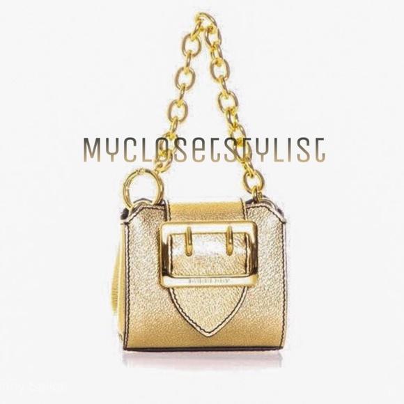 BURBERRY Buckle Purse NWT Gold Leather Chain Bag ❤ 270e1a09ad689
